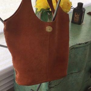 Handbags - Beautiful orange suede hobo